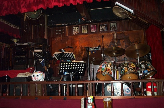 Ned Kelly's band stand, Hong Kong