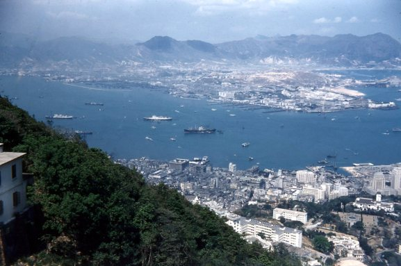 Hong Kong harbor, 1955