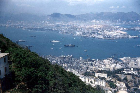 Hong Kong harbor, 1955