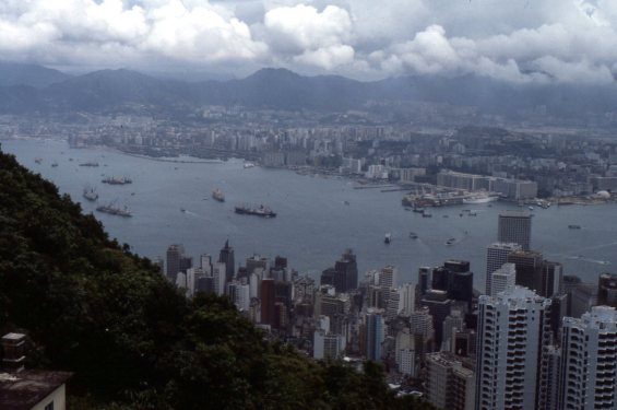 Hong Kong harbor, 1982