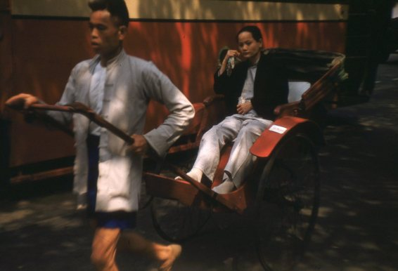 Rickshaw, Kowloon, Hong Kong, 1955