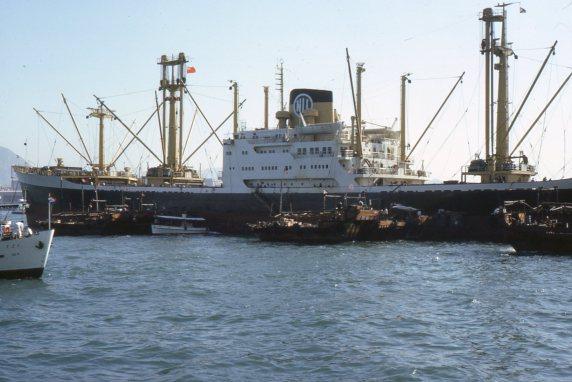 Unloading ship, H.K.