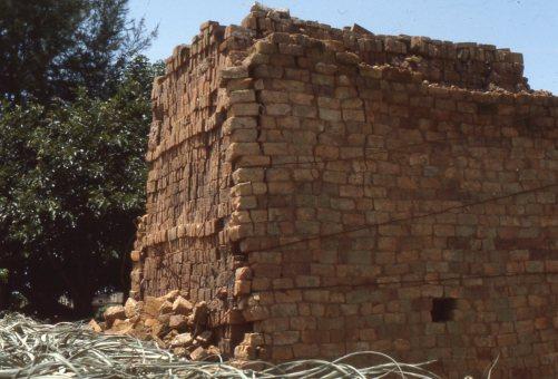 Fired brick clamp, north of Guanzhou, 1982